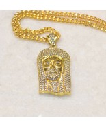 ICED OUT RELIGIOUS JESUS FACE & BABY ANGEL PENDANTS + CHAIN NECKLACE - $9.79