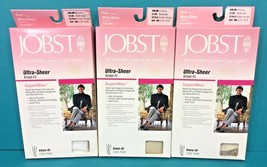 Jobst Firm Support Wear Knee Hi High Ultra Sheer Medium 2 Ivory 1 White ... - $28.95