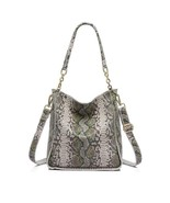 Ladies Handbag Genuine Leather Female Serpentine Pattern Messenger Shoul... - $51.47