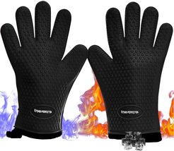 Silicone Smoker Oven Gloves - Extreme Heat Resistant Washable Mitts for ... - $33.29