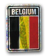 ALBATROS Pack of 12 Belgium Country Flag Reflective Decal Bumper Sticker... - $31.85