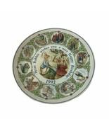 "Wedgwood Beatrix Potter Peter Rabbit Happy Birthday Wishes Plate 1992 8"" W - $18.69"