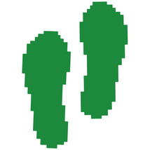 LiteMark Green Removable Pixelized Footprint Decal Stickers - Pack of 12 - $19.95
