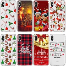 Case Cover Mickey Christmas For iPhone X 5S 6 7 8+ For Samsung S9+ S8 Note 9 - $2.13+