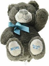 DaySpring Hope for Your Heart Plush Bear Gray Blue Isaiah 40:31 Teddy Kids - $59.39