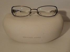 Michael Kors MRK436 Eyeglass Frame Light Brown Olive -50-17-135 w/ Case - $23.36
