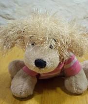 "Ganz Frizzy Puppy Dog In Pink Shirt 8"" Stuffed Animal - $15.35"