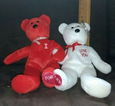 Ty Beanie Babies Set ~ I Love You / I Heart U Beanie Baby Bears (8.5 Inch) Mwmt - $7.99