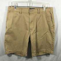 Polo Ralph Lauren New Label Dark Khaki 100% Cotton Flat Casual  Shorts 33 - $24.95