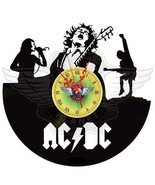 VINYL PLANET Wall Clock Angus Young AC/DC Gift Home Record Unique Decor ... - $29.50