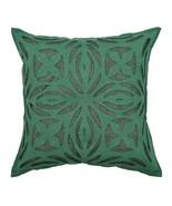 16X16 Beautiful Applique Cutwork Cotton Pillow/Cushion Cover Sofa Throw ... - $7.91
