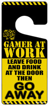 Gamer At Work Go Away Dice Novelty Metal Door Hanger - $12.95