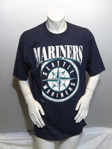 Seattle Mariners Shirt (VTG) - 1990s Big Logo by Russell Athletic -Mens ... - $55.00