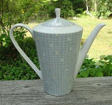 SCHUMANN ARZBERG CHINA - Mid Century Modern COFFEE POT - checkerboard - $29.95