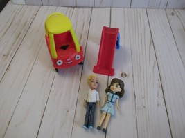"""Little Tikes Place Dollhouse Replacement 4.5"""" 2017 Dad Mom Slide Cozy Coupe - $34.64"""