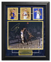 Stephen Curry Golden State Warriors Signed Triple NBA Champion 19x23 Fra... - $830.00