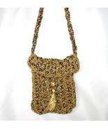 Judith Russek Collection Handmade Metallic Gold Cord Handbag  #105 - $24.00