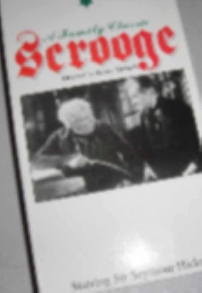 "A Family Classic ""Scrooge"" Starring Sir Seymour Hicks  B&W Vhs"