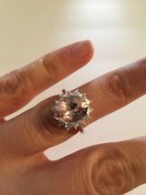 Natural Morganite Royal Engagement Ring, 3.97ct Center Stone Set in 14Ka... - $775.00+