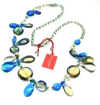 Necklace Antica Murrina Venezia with Murano Glass Lapilli Blue Grey CO692A07 image 2