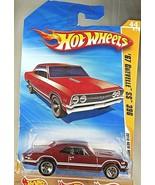 2010 Hot Wheels #44 New Models 44/44 '67 CHEVELLE SS 396 Burgundy Variant w/5 Sp - $7.75