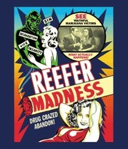 Reefer Madness Movie Poster Reproduction T-Shirt SIZE XL, NEW UNWORN - $14.50