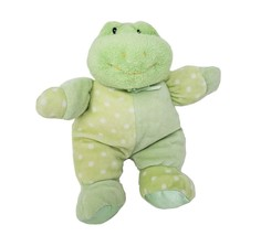 "9"" BABY GUND DOTTIE DOTS 58242 GREEN FROG RATTLE STUFFED ANIMAL PLUSH TO... - $27.12"