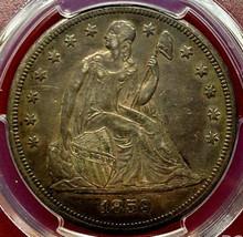 1859-O, $1 LIBERTY SEATED DOLLAR {{{ TONED }}} PCGS AU-50 {{{ CIVIL WAR ... - $889.89
