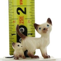 Hagen Renaker Miniature Cat Siamese Papa and Kitten Walking Ceramic Figurines image 2