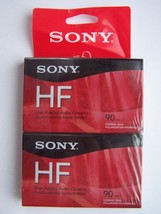 Sony HF Audio Cassette 90 Minute Tapes Sealed Normal Position IECI Type I Lot #2 - $6.58