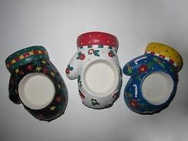 Set of 3 Mary Engelbreit Christmas Winter Mitten Tea Light Votive Candle... - $21.77