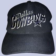 Vtg Dallas Cowboys Snapback Hat Cap Adjustable Script Star Logo Navy w S... - $29.69