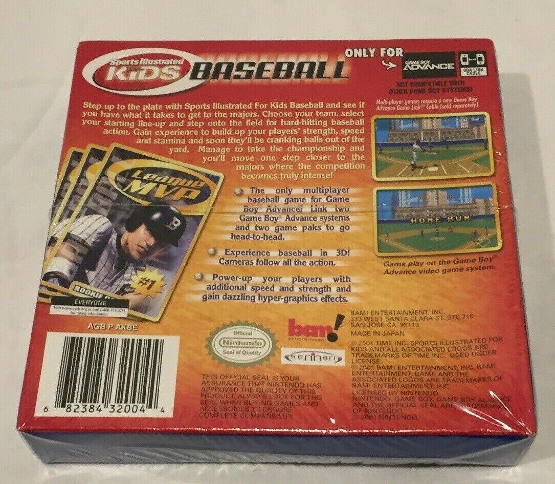 Sports Illustrated Kids Baseball Nintendo Game Boy Advance 2001 New Old Stock