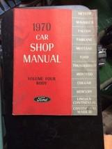 1970 Ford Car Volume 4 Body Shop MANUAL Vintage car automobile repair - $39.99