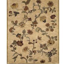 "Bashian Wilshire Floral Shower 100-Percent Wool Pile Area Rug,  Beige 2'6"" x 8' - $168.29"