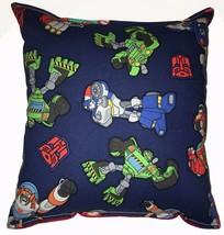 Rescue Bots Pillow Transformers Pillow Cartoon Handmade In USA - $9.99