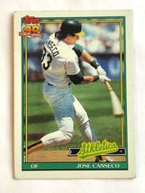 1991 Topps #700 Jose Canseco Oakland Athletics MLB Baseball Trading Card - $0.99