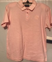 Lizsport Liz Claiborne Womens Shirt NEW NWT Pink Polo Preppy Medium - $23.22