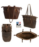 """COLUMBIAN"" LEATHER ADJUSTABLE SHOULDER TOTE BAG & PURSE ✯ Amish Handmad... - $289.97"