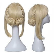 ColorGround Long Blonde Prestyled Cosplay Wig with Braids - $27.16