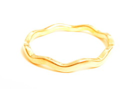 Vintage 1.5mm Thin Wave Stackable Ylw Gold Plated Esposito Ring 14K GE E... - $8.00