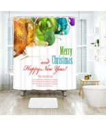 3D Weihnachten Xmas 033 Duschvorhang Wasserdicht Faser Bad Daheim Window... - $63.52+