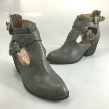 Jeffrey Campbell Womens 7 Everwell Gray Vegan Buckle Cut-Out Booties Boots NEW - $83.30