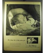 1950 Pullman Trains Ad - You sleep like a baby when you go Pullman - $14.99