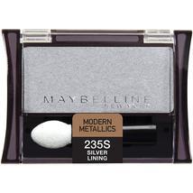Maybelline New York Expert Wear Eyeshadow Singles, Silver Lining 235 Shi... - $4.99