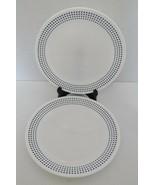 "Corelle Livingware Vitrelle Bayside Dots Navy 8 1/2"" Luncheon Plates Lot... - $18.69"