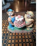 "Fitz & Floyd Resin Figurine ""You Take the Cake"" Bears 5"" by Homebourne H... - $9.89"