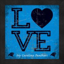 "Carolina Panthers 13x13 ""LOVE My NFL Team"" Color Textured Framed Print  - $39.95"