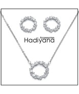 HADIYANA Hot Selling AAA Cubic Zirconia 2pcs Jewelry Set Fashion Round S... - $24.70