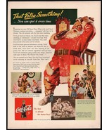 Vintage magazine ad COCA COLA from 1942 Santa Claus That Extra Something... - $14.99